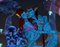 Avatar kissing online j�t�k